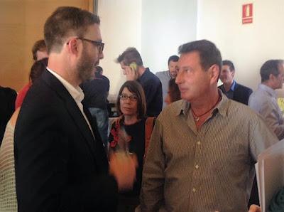 El alcalde y Pepe Martínez de Pescaturismo