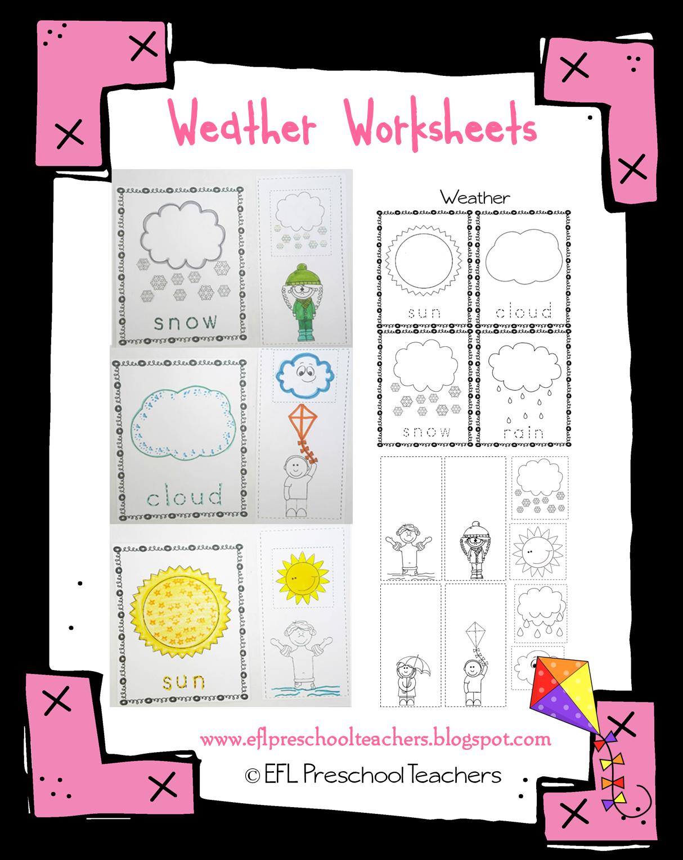 esl efl preschool teachers weather theme resources for the ell