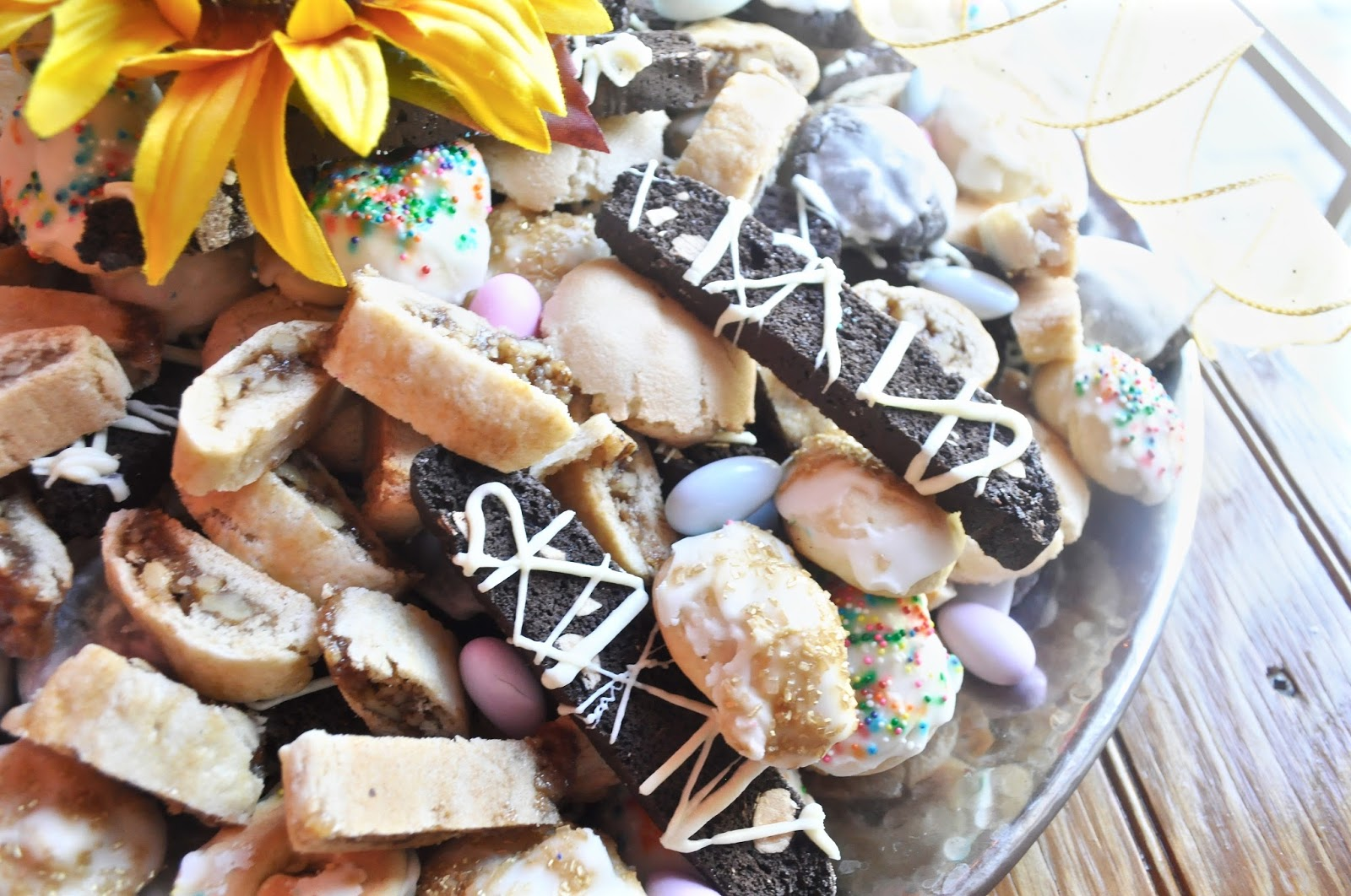 I Never Got Around To Making The Bocconotti For This Wedding Tray, But I  Did Make Anginetti, Italian Christmas U201cbrowniesu201d, Chocolate Biscotti And  Sfratti, ...
