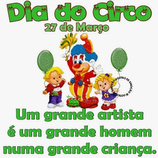Mensagens Para O Dia Do Circo Frases Para Facebook