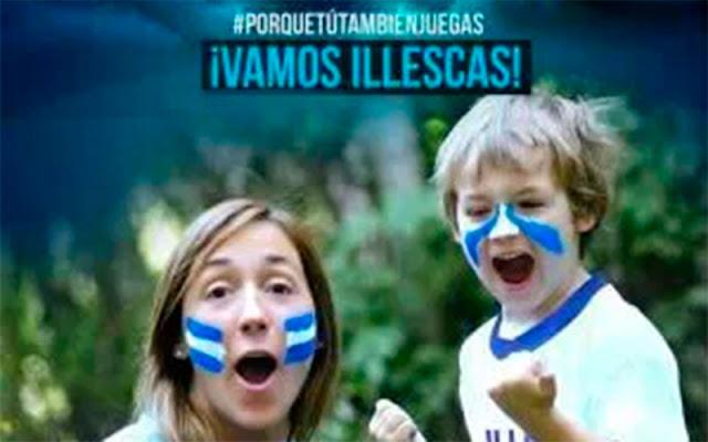 cartel animando a la afición CD Illescas