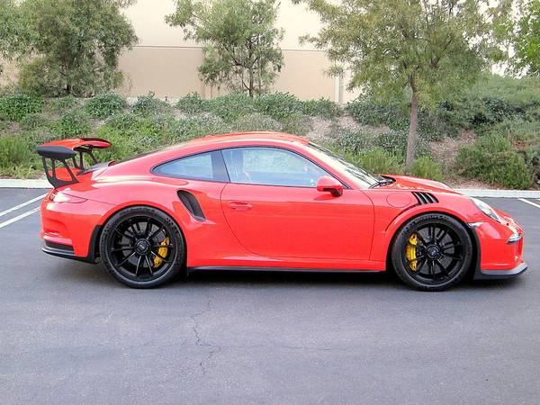 Lava Orange 2016 Porsche 911 Gt3 Rs Auto Restorationice