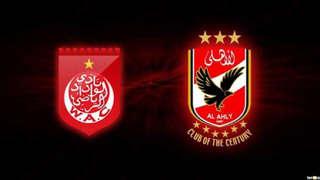 نتيجة لقاء النادي الأهلي ونادي الوداد المغربي