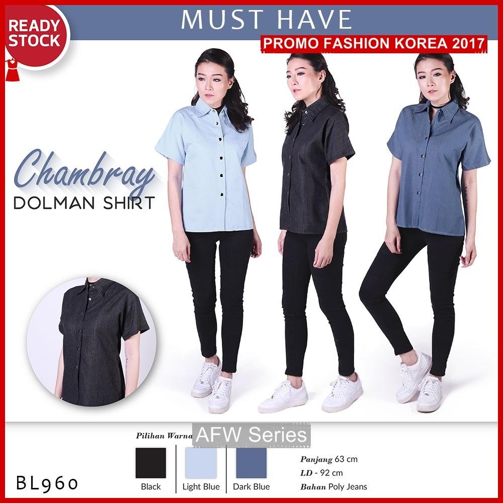 BAMFGW059 Chambray Shirt Kemeja Wanita PROMO BMG