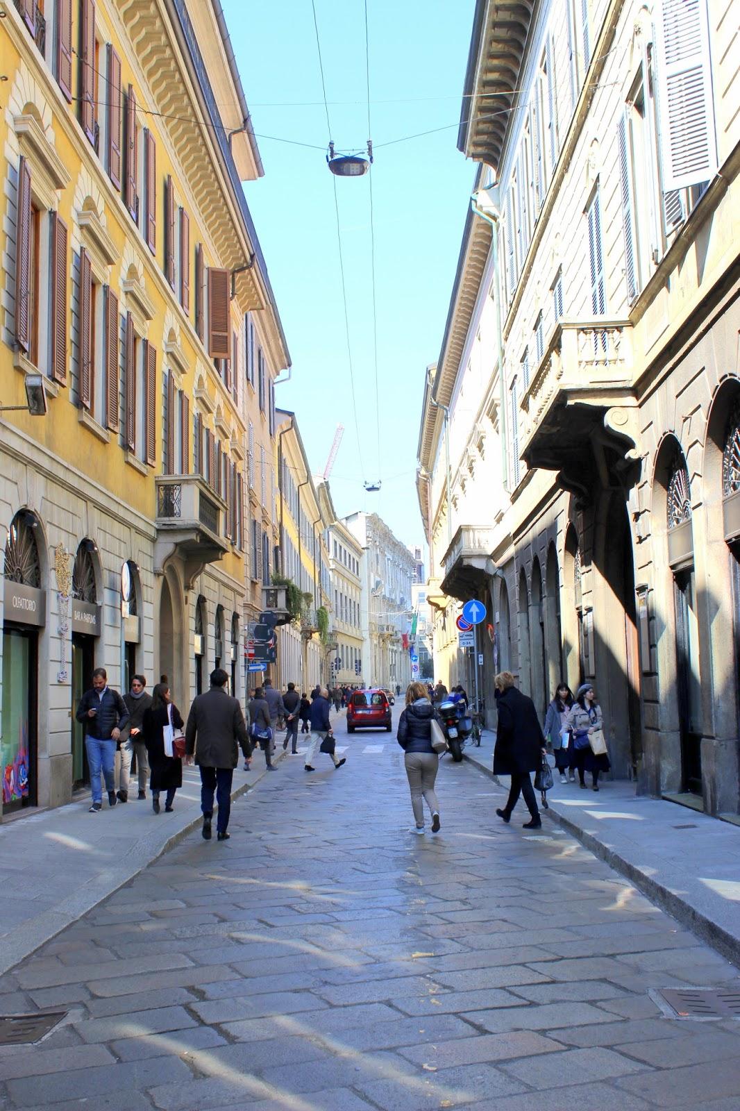 italienische gassen Mailand