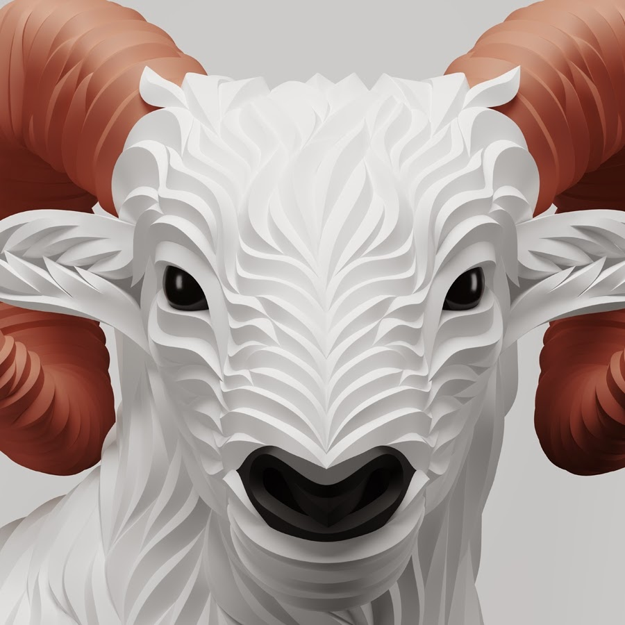 13-Ram-Maxim-Shkret-Digital-Origami-Animal-Art-www-designstack-co