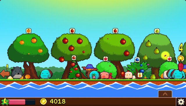 Screenshot of clicker game Plantera