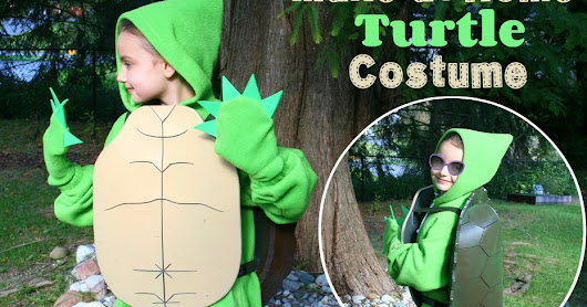 Our Made At Home Turtle Costume