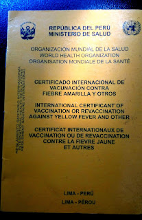 International Certificate of Vaccination, Vaccines Peru