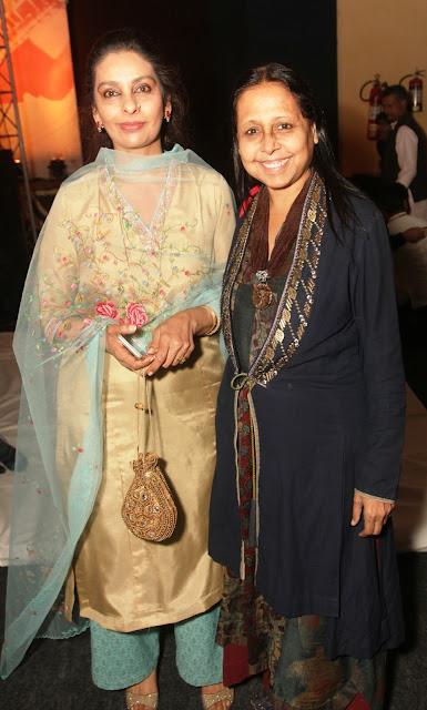 Parveen Khan with Designer Anju Modi-