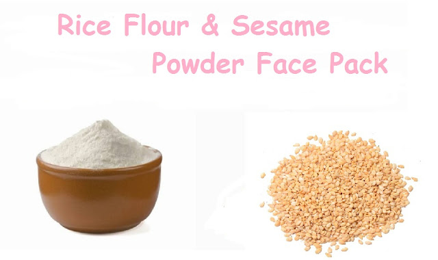 Rice and sesame face pack for britening skin