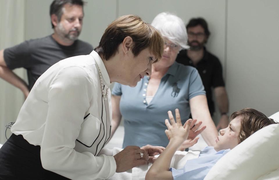 Escena de la película Secuestro con el actor sordo Marc Domenech