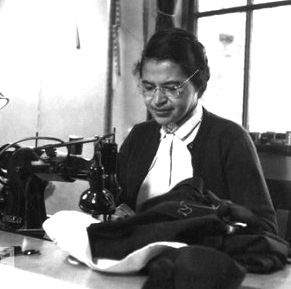 The Montgomery Bus Boycott, Rosa Parks at Sewing Machine