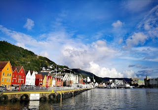 Bryggen area Bergen by Franziska Schwarzlmüller, Fjord Travel Norway