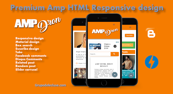 Amp Dron Premium Amp Html Blogger Template