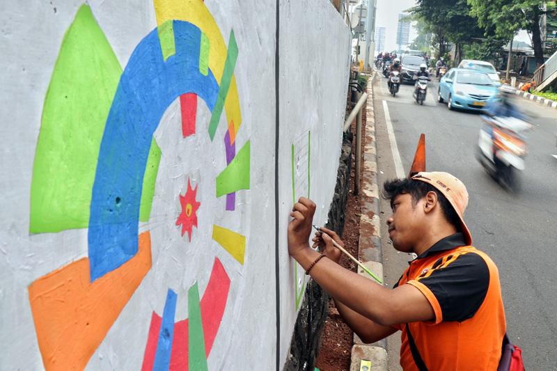Foto-Foto Mural Asian Games 2018 Di Jakarta dan Palembang - 4