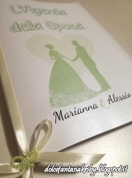 agenda della futura sposa da compilare