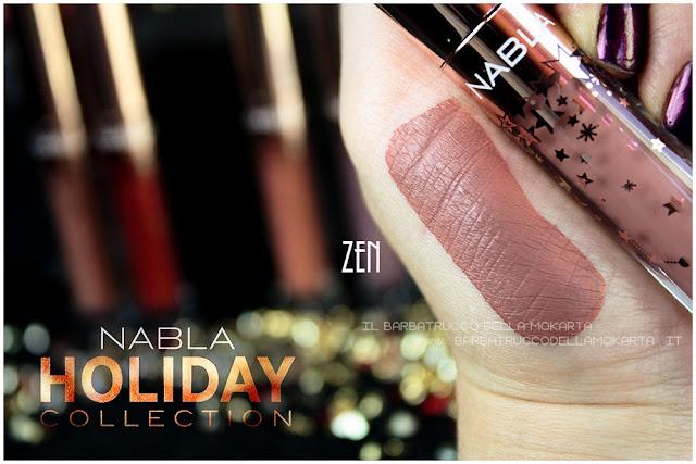 zen  swatches liquid lipstick nabla rossetto liquido