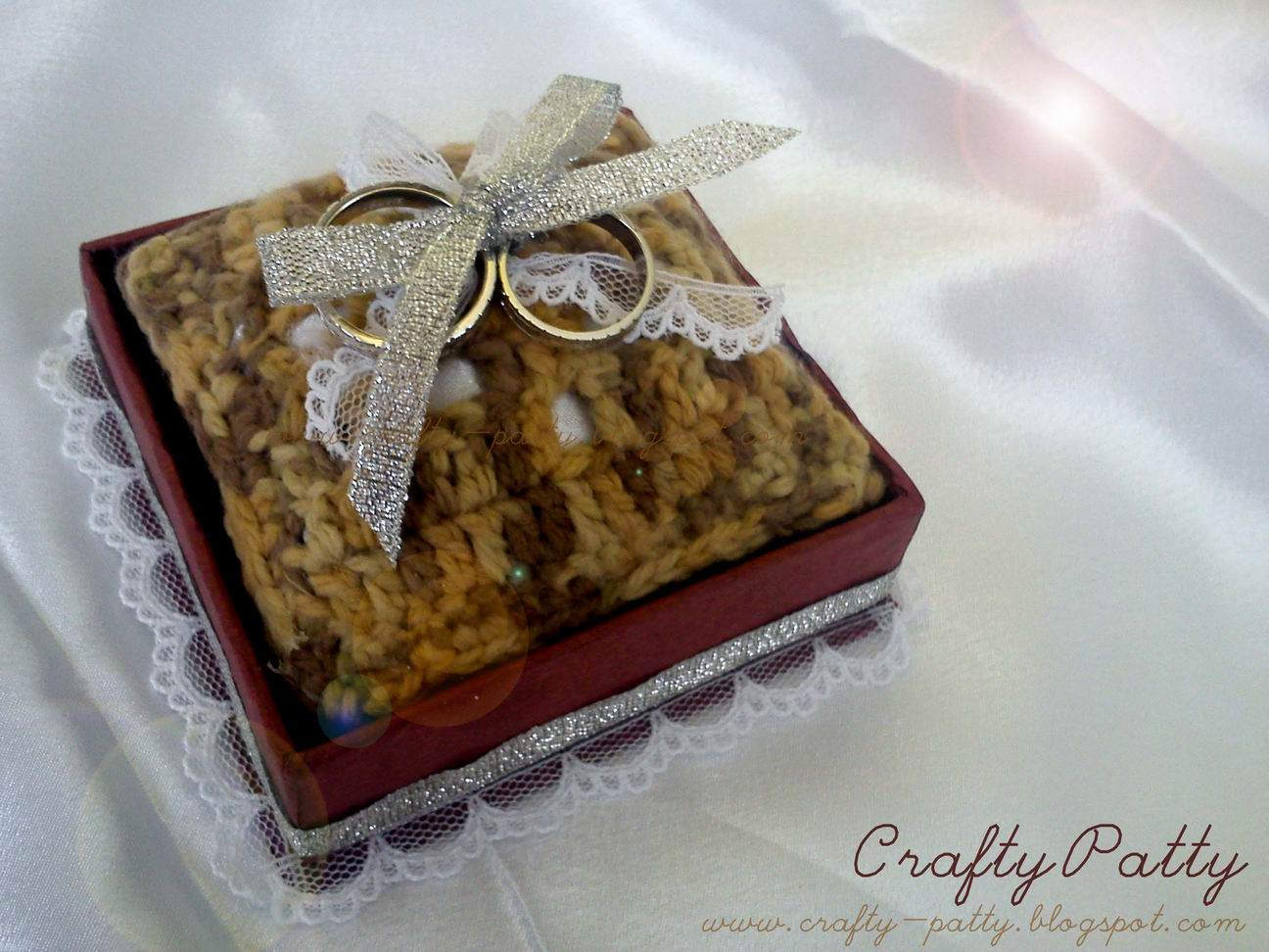 Crafty Patty: Kotak Cincin Kawin, HANDMADE!