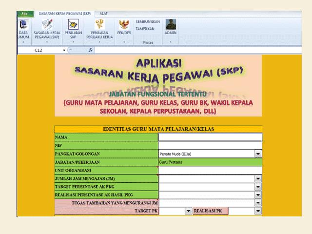 Aplikasi SKP ( Sasaran Kerja Pegawai ) Format Excel