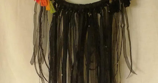 Colourful black dreamcatcher