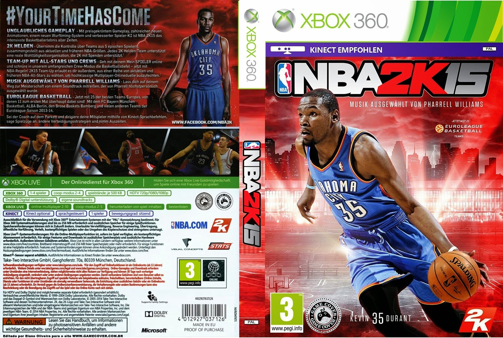 NBA 2K15 - Xbox 360 - Ultra Capas