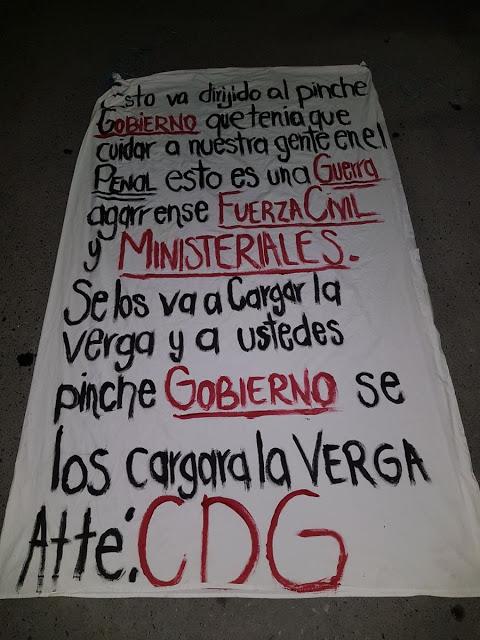"""El Cártel del Golfo amenaza en narcomanta a """"Director Zeta"""", Ministeriales, Fuerza Tamaulipas y Gobierno de Nuevo Léon tras los 16 muertos en penal de Cadereyta"""