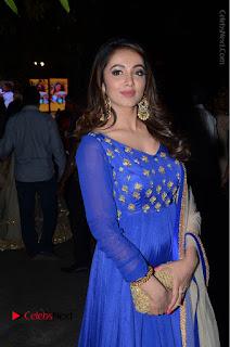 Telugu Actress Tejaswi Madivada Pos in Blue Long Dress at Nanna Nenu Na Boyfriends Audio Launch  0095.JPG