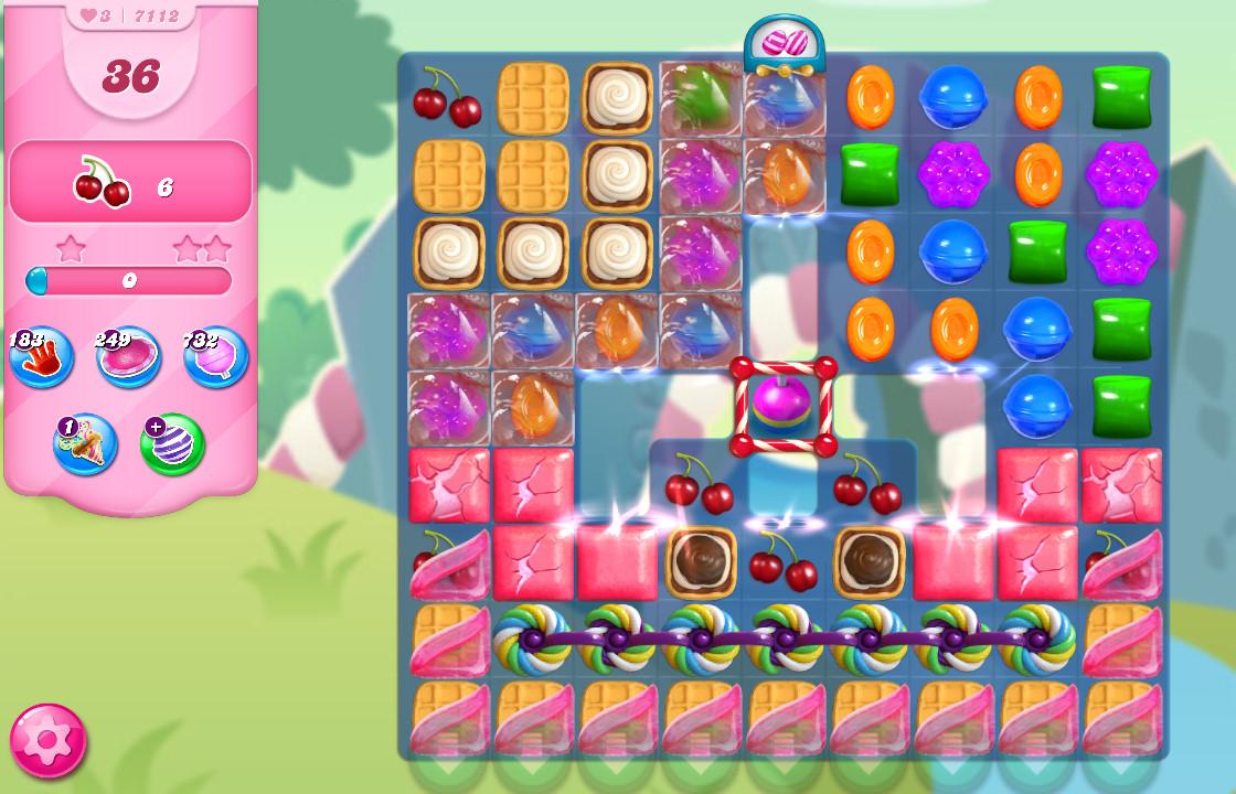 Candy Crush Saga level 7112