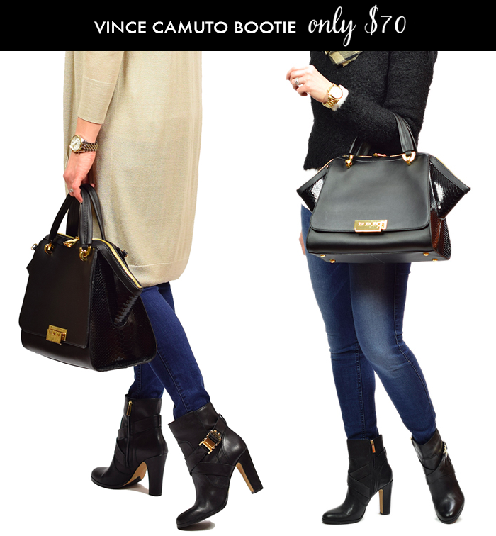 buckle bootie on sale, vince camuto connolley