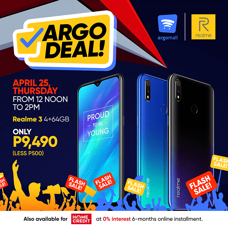 Realme 3 4GB/64GB will be on a flash sale at Argomall on April 25