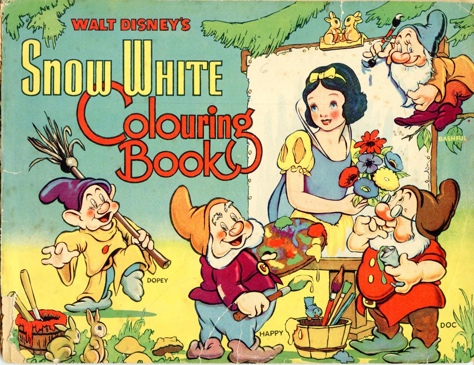 Filmic Light - Snow White Archive: Collins \'Snow White\' Colouring ...