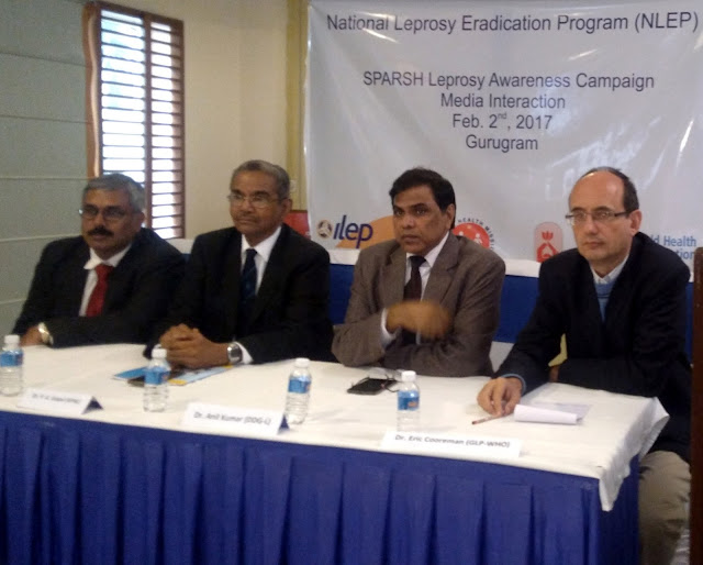 (L to R) MR. JOHN KURIAN GEORGE (ILEP in India), PADMASHREE  DR.P. K. GOPAL (Representative- APAL), Dr. Anil Kumar (Dep. Director General