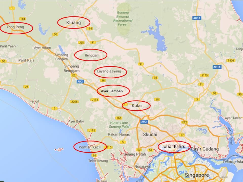 Wwwjohor Bahru Map