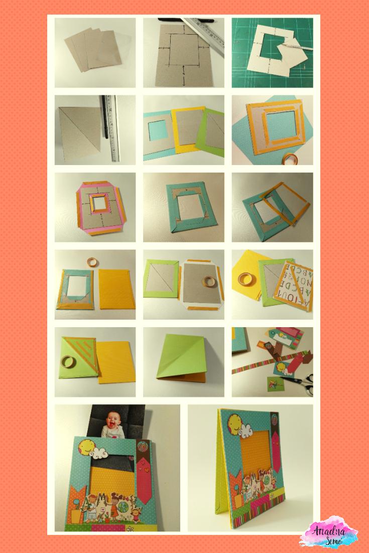 Arte, Artesania y Manualidades: Tutorial marco de fotos Scrapbooking ...