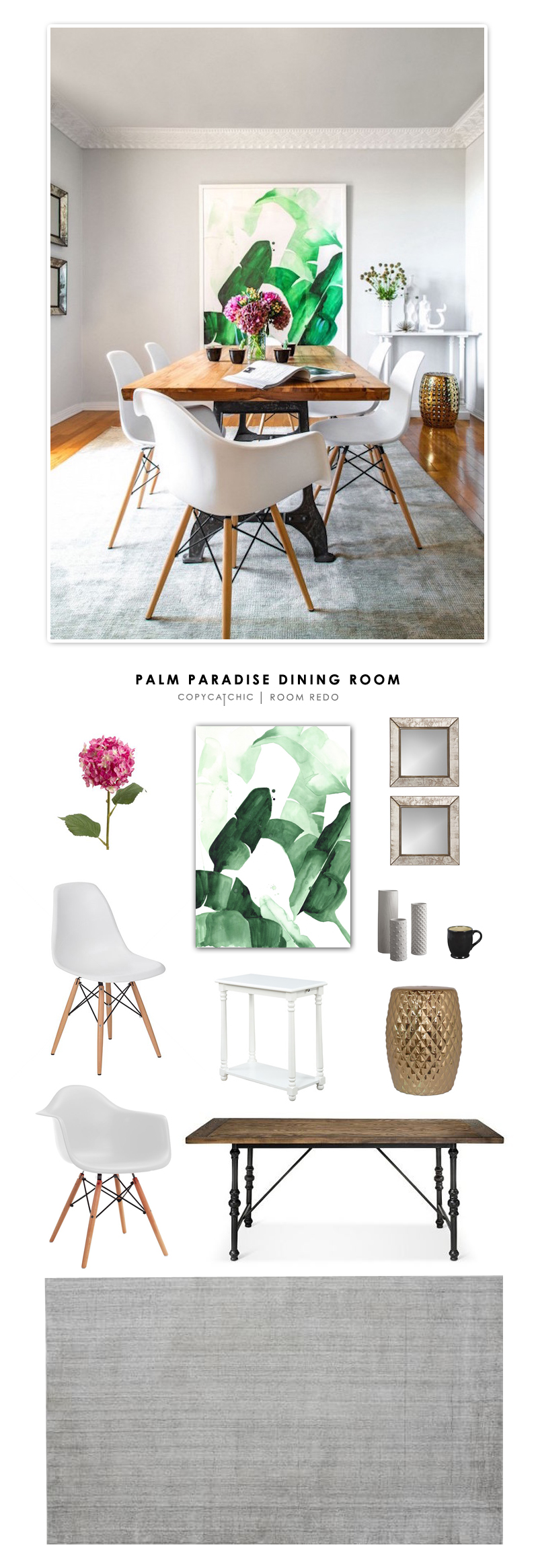 Jenny Bernheim's Palm Paradise Dining Room recreated for less by Copy Cat Chic.