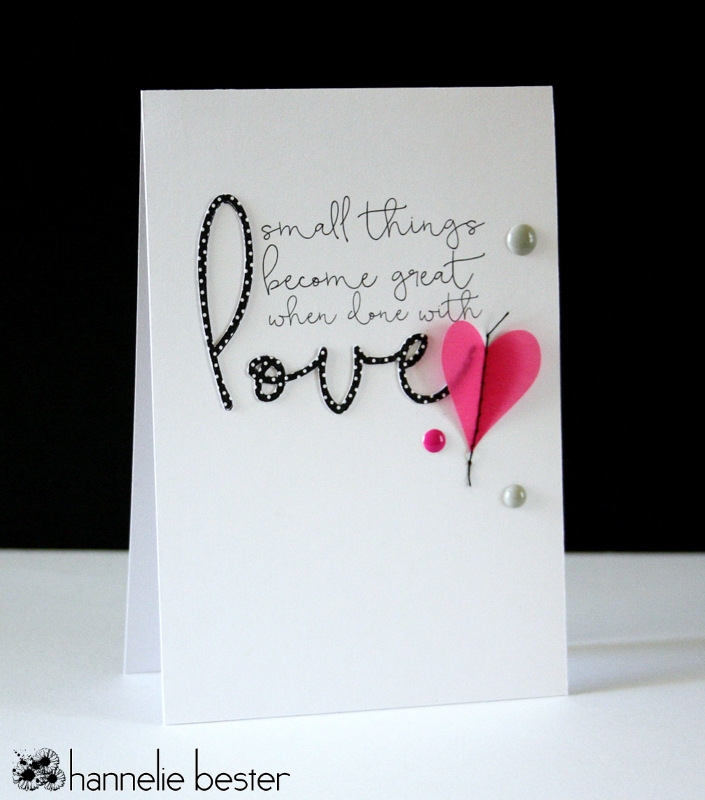 Small things with love card
