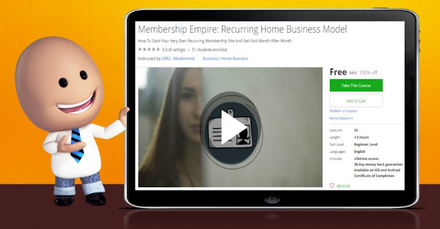 [100% Off] Membership Empire: Recurring Home Business Model| Worth 60$
