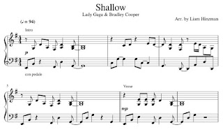 Piano Sheet Music Lady Gaga Shallow Piano Sheet Music Pdf