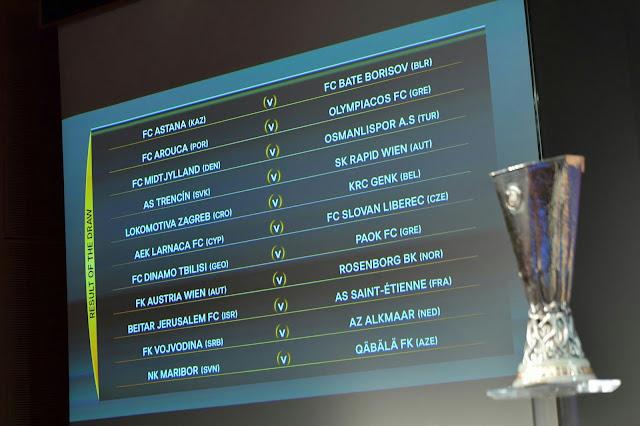 Definidos os confrontos dos playoffs da Liga Europa