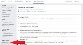 Konfigurasi Instant Article