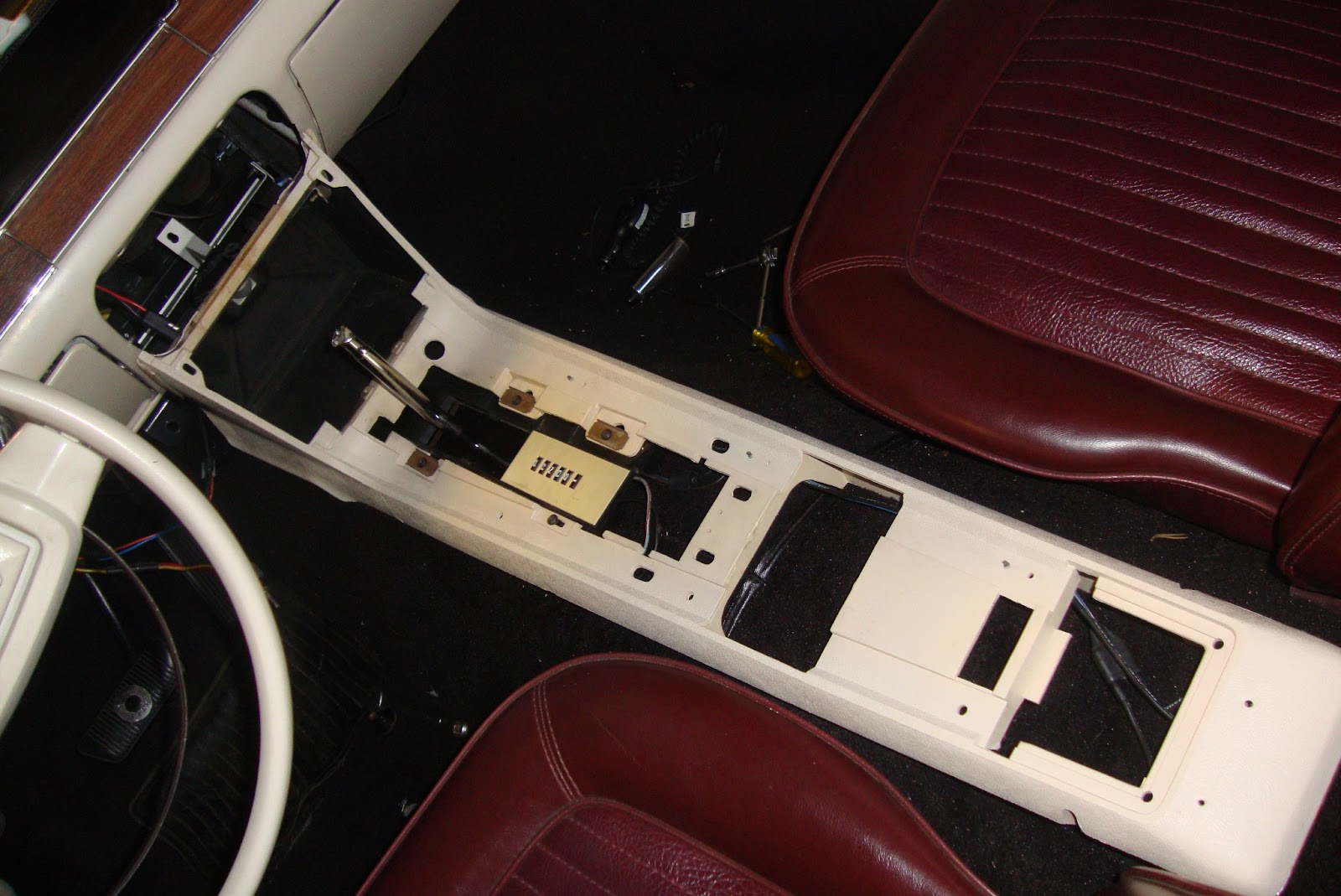 1968 Mustang Convertible Restoration Console Ation