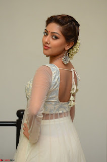 Anu Emmanuel in a Transparent White Choli Cream Ghagra Stunning Pics 023.JPG