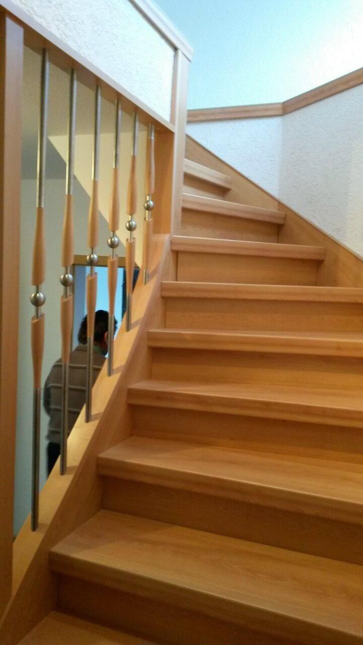 Treppenrenovierung - fertig gestellte Treppe