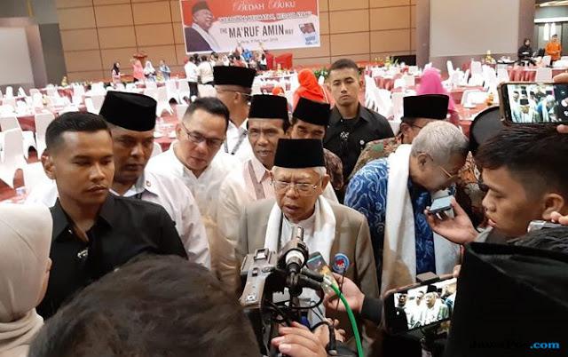 Kuliah Umum UIN Padang Batal, Ma'ruf Amin Bedah Buku di Hotel