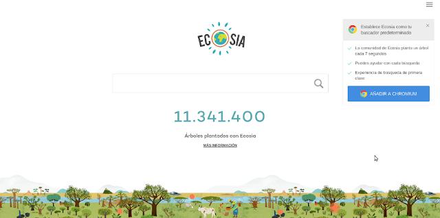 Ecosia, un buscador que destina sus beneficios a plantar árboles