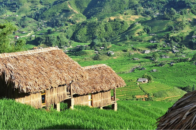 Explore the unique homestay watching the panorama of terraced rice fields