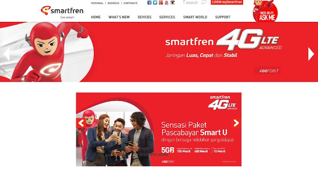 Jaringan Paket Internet Smartfren 4G LTE