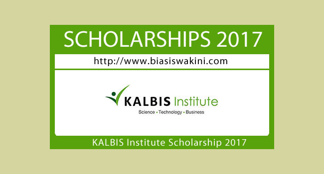 Kalbis Institute Scholarship 2017