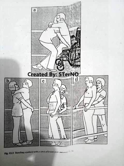 cara melatih berdiri pasien dari kursi roda ke paralel bar